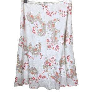 Wet Seal Flowy, Lightweight Floral Midi Skirt